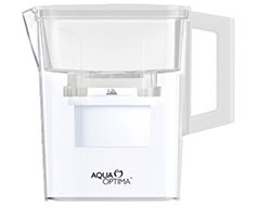 "Aqua Optima Water Jug With 2 X 30 Day Filter Plastic White 2.1L ""Compact"""